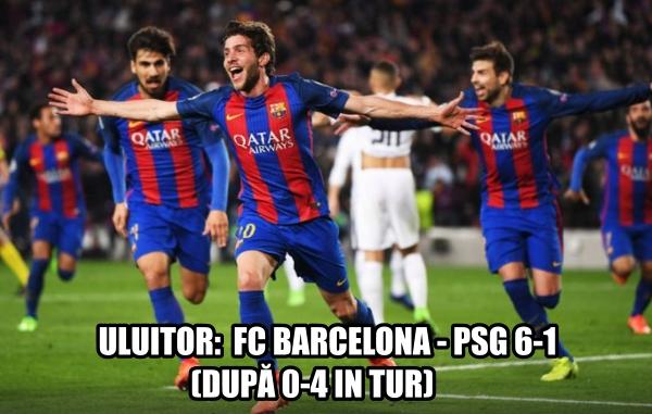 Un meci fabulos pentru Barcelona in Champions League