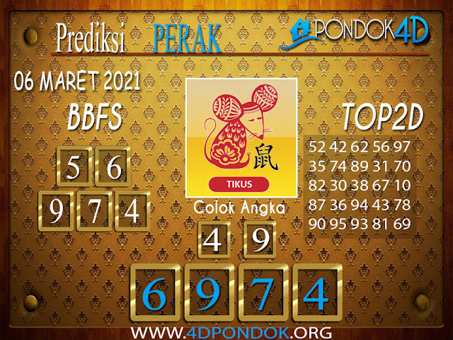Prediksi Togel PERAK PONDOK4D 07 MARET 2021