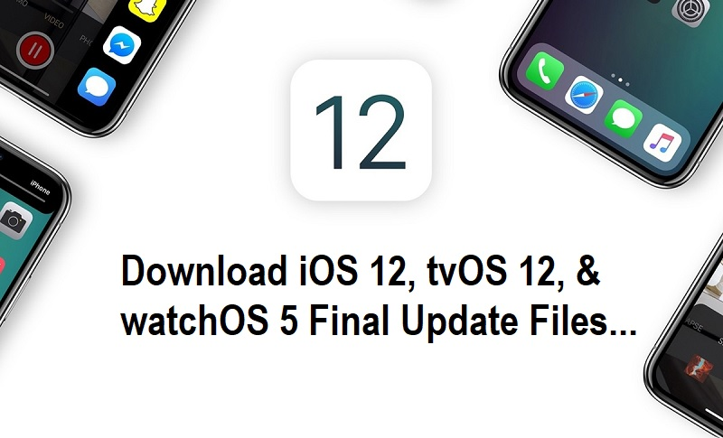 Download iOS 12, tvOS 12, and watchOS 5 Final Update
