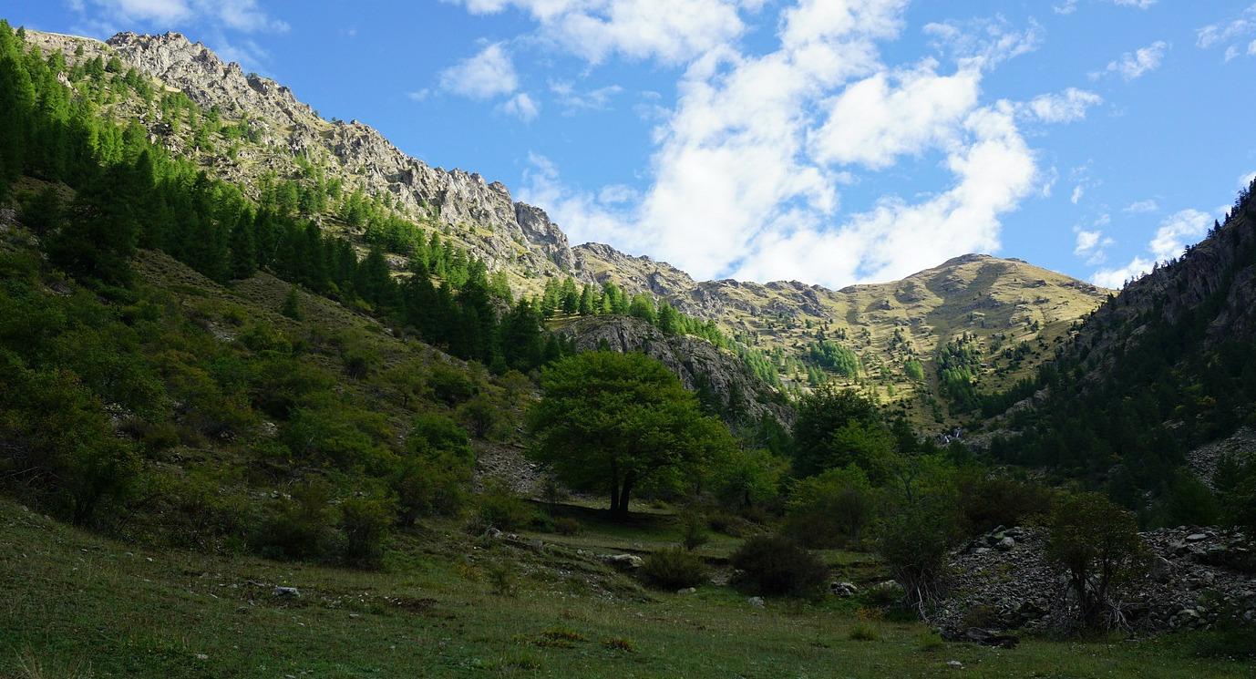 Start of ascent in Vallon de Vens