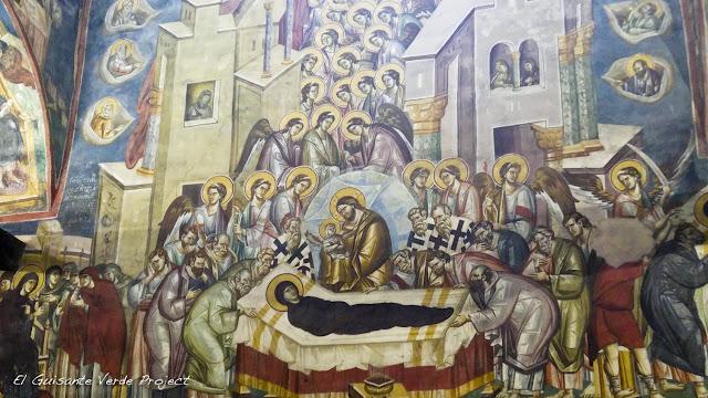 Dormición de la Virgen en la Iglesia Santa Madre de Dios Peribleptos, Ohrid - Macedonia por El Guisante Verde Project