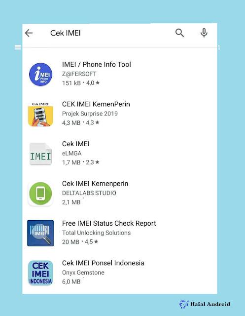 Cara Cek IMEI HP Dengan Aplikasi