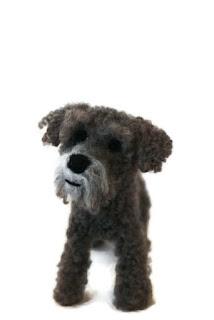 Felted poodle dog