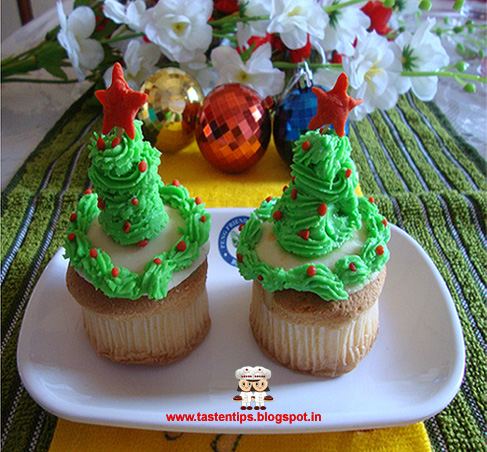 Egg Less Pineapple Cupcake
