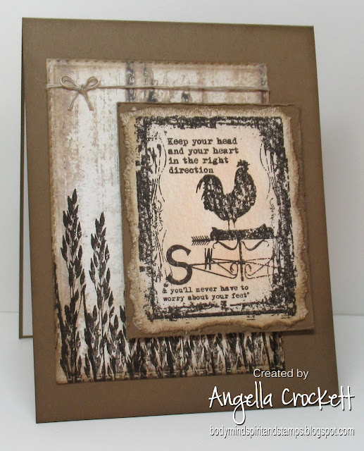 Artistic Outpost 'Home', Divinity Designs LLC: Weathered Wood Paper Collection, Double Stitched Rectangles Dies; Card Designer Angie Crockett