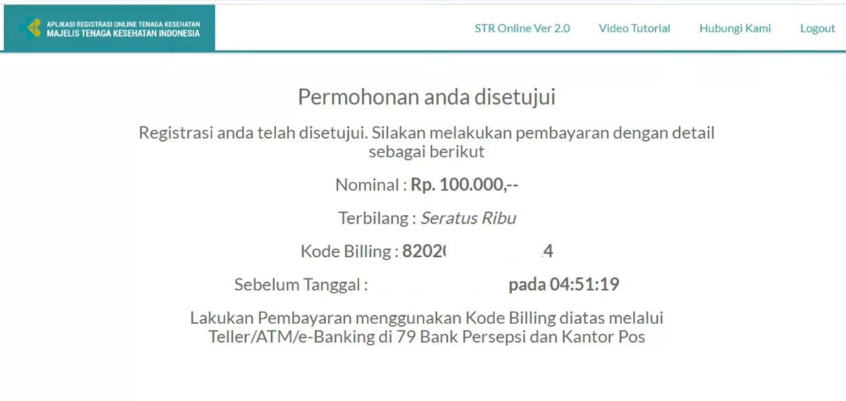 Cara Bayar Kode Billing STR Lewat m Banking BCA