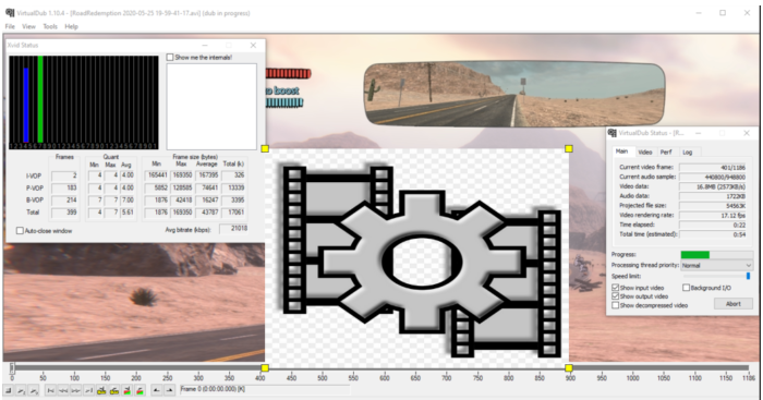 Reduce the size of the AVI video file while keeping the quality almost completely intact.