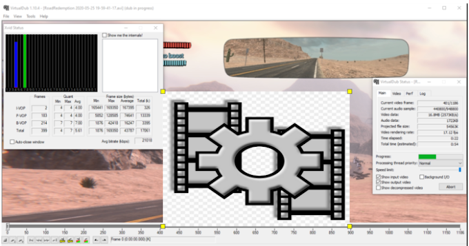 Reduce size of the AVI video file while keeping the quality almost completely intact.