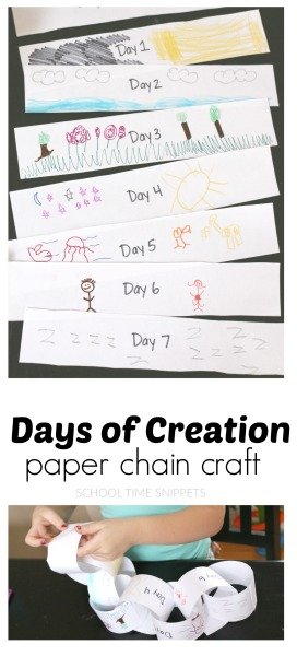 days of creation bible craft for kids
