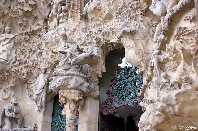 Dettaglio della facciata della Natività della Sagrada Familia