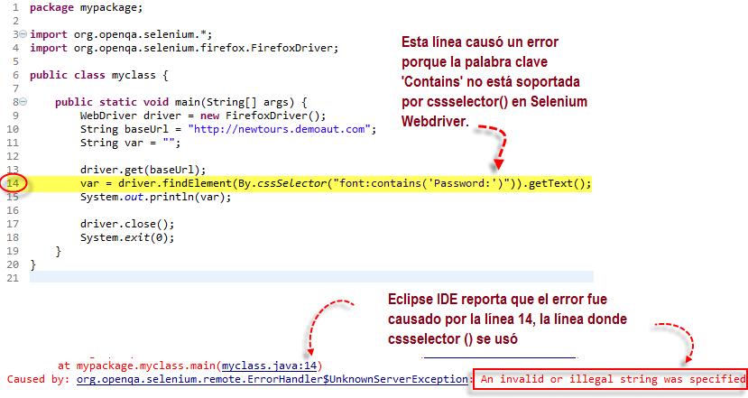 Selenium Webdriver Localizadores