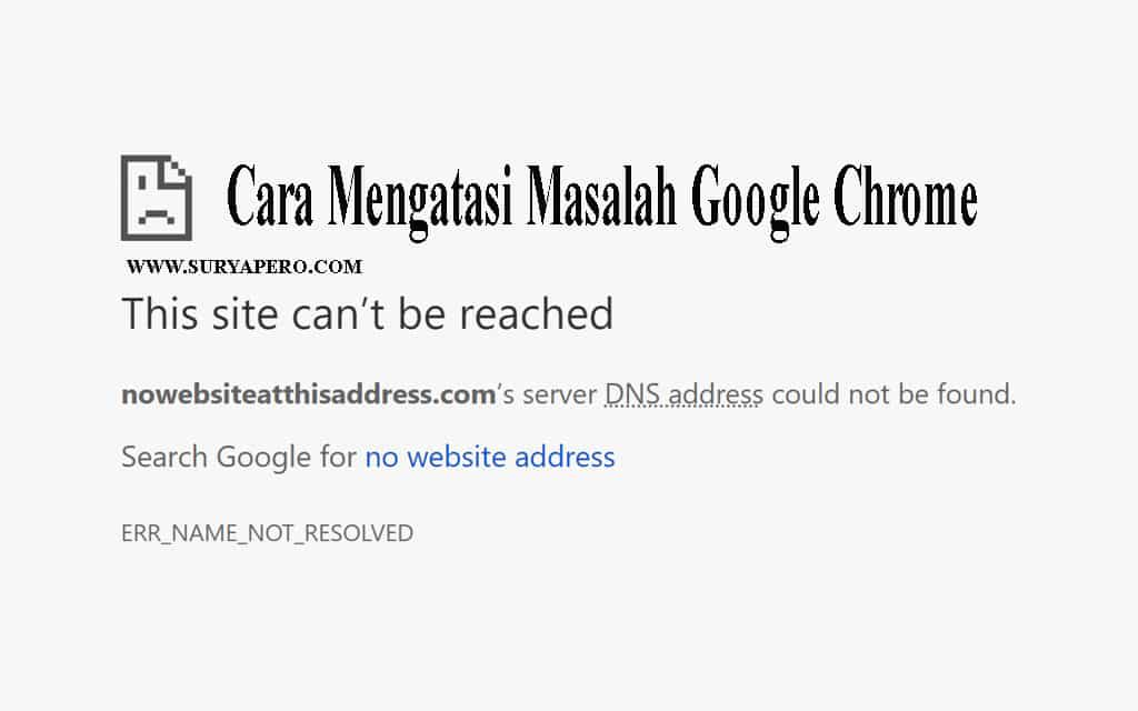 mengatasi website this site can't be reached