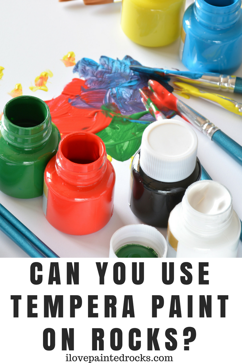 Can you use tempera paint on rocks? If you are painting rocks with your kids, be sure to read this informative guide to using tempera paint and other non-toxic paints that are safe for children. #paintedrocks #rockpainting #painting #kidcrafts