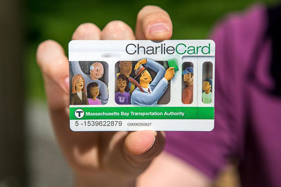 Stored Value Charlie Card. Metro Boston