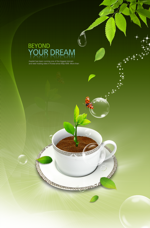 4 open source psd designs and green and stunning nature designs