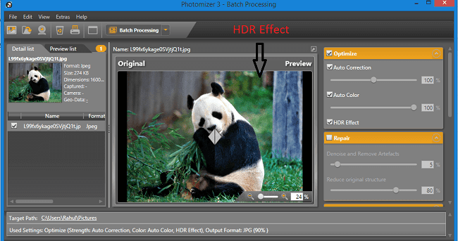 Photomizer HDR Effect