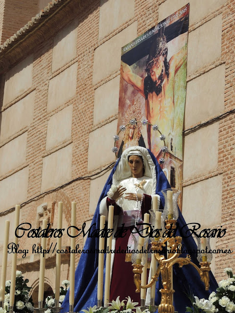 Domingo de Ramos Valdepeñas. Salida de la Borriquita y Virgen de la Soledad