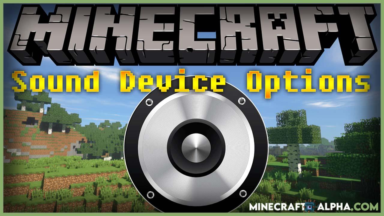 Minecraft Sound Device Options Mod 1.17.1 (Switch the Sound Output Device)