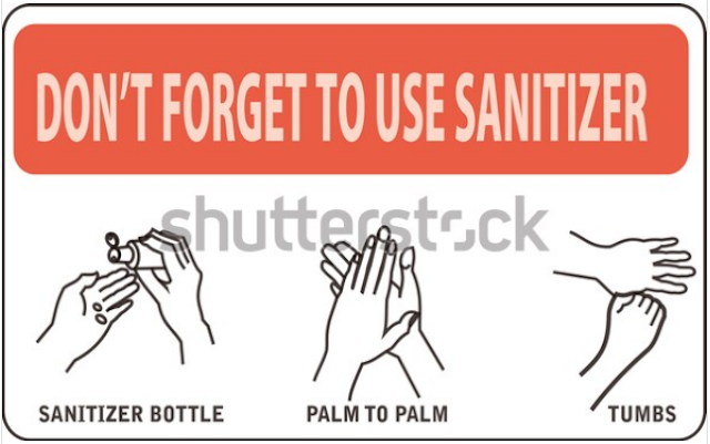 vector illustration,how to use handsanitizer