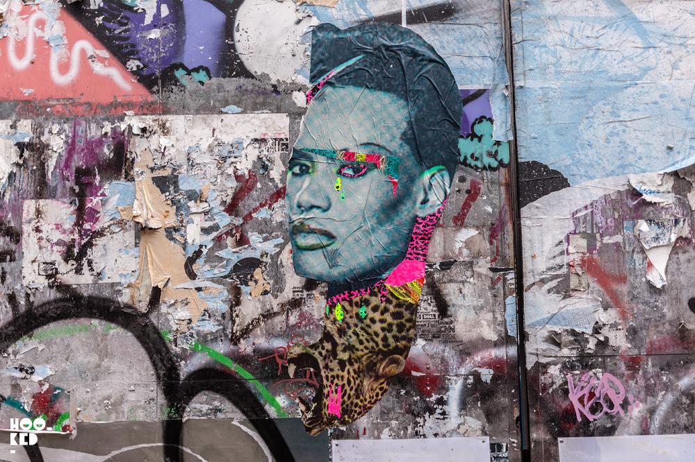 Artist Aida Wilde's Grace Jones Shoreditch Street Art
