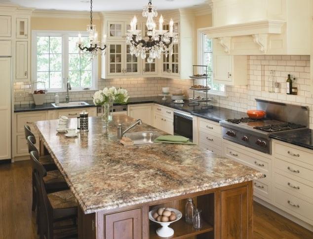 granite kitchen countertops with white cabinets. Bainbrook Brown Granite Countertops With White Cabinets Kitchen E