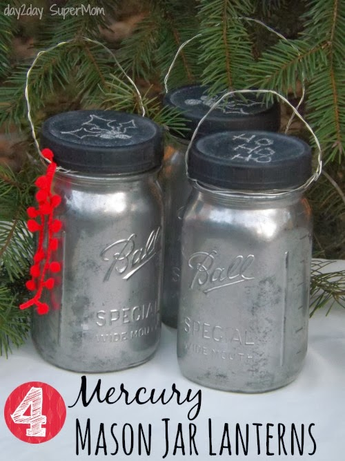 diy mercury glass mason jar lanterns
