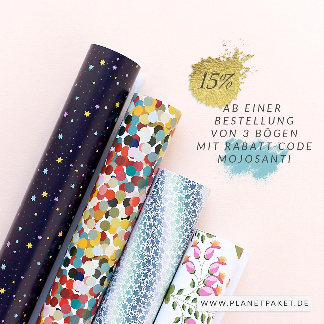 15 Prozent Rabatt ab 3 Bögen bei https://www.planetpaket.de/