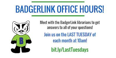 BadgerLink Office Hours flyer