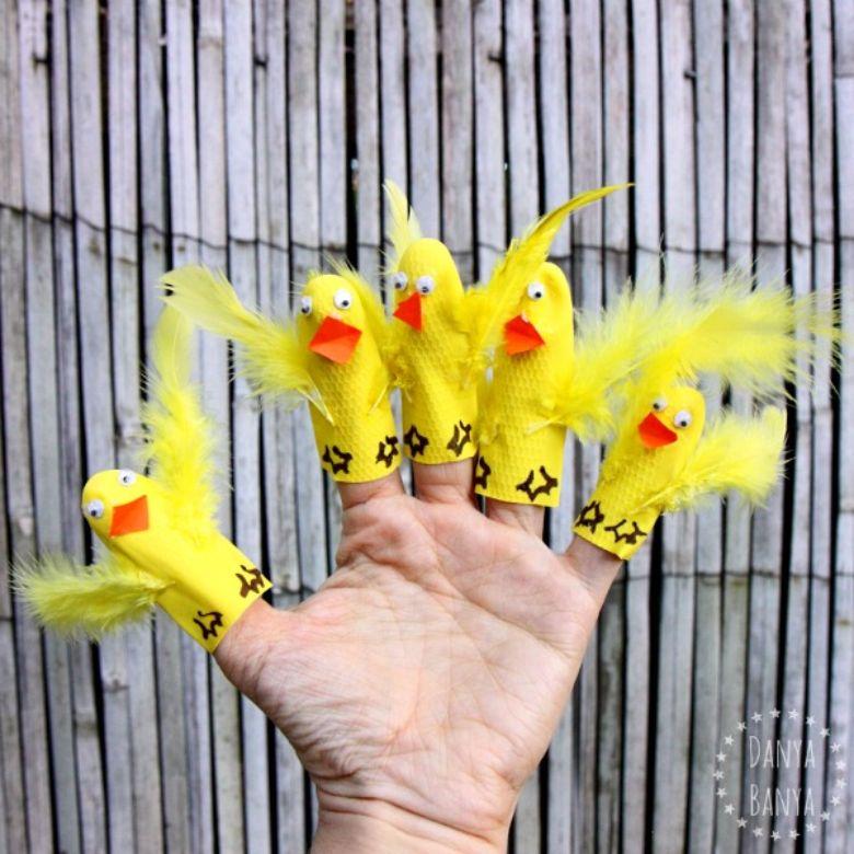 activities for babies - 5 little ducks finger puppets