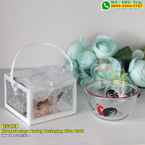 Mangkok Jago Bening Packaging Mika Motif