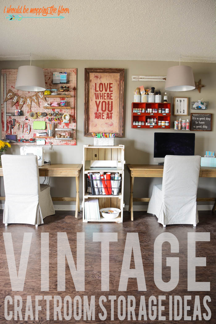 Vintage Craft Room Organization