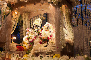 Janmashtami Jhanki - Krishna Radhe decorations