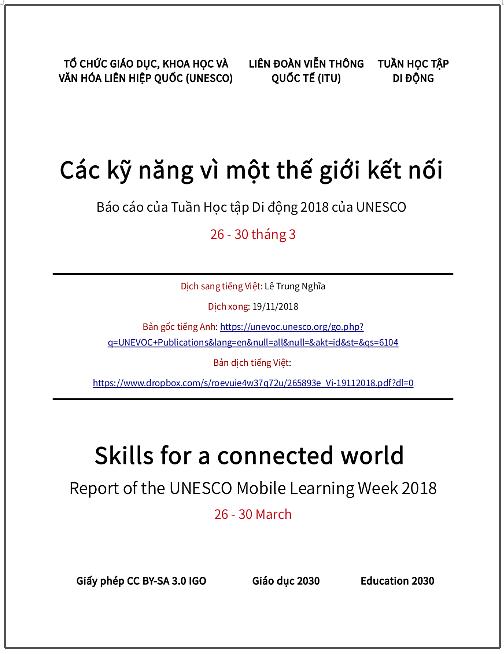 'Các kỹ năng vì một thế giới kết nối' - bản dịch sang tiếng Việt