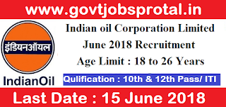 Indian oil recruitment 2018.