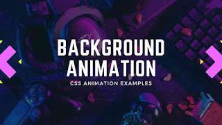 Awesome Animated Background with Pure CSS and Html