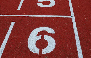 a picture of the number six on a child's playground