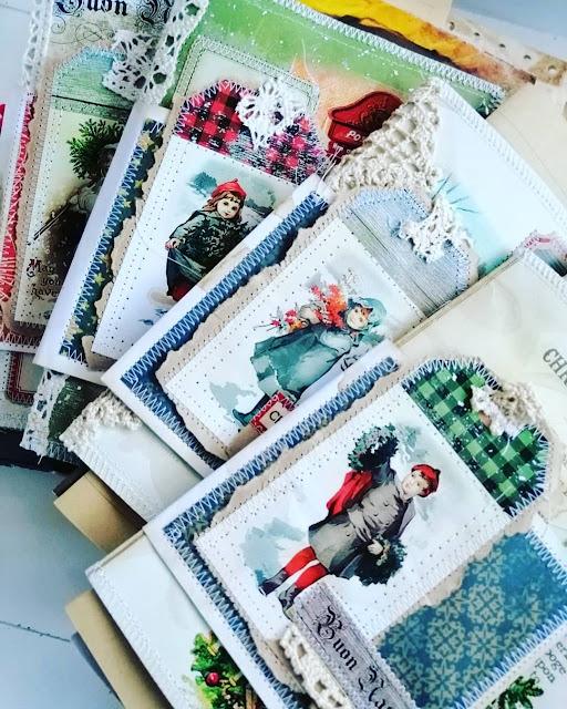 junk journal di Natale