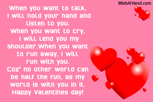 Unique Happy Valentine\'s Day Special Messages for my Girlfriend ...