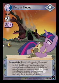 My Little Pony Rest in Pieces High Magic CCG Card