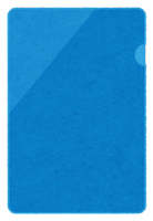 クリアファイルのイラスト(緑)