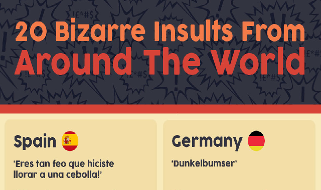 20 Bizarre Insults from Around the World #infographic