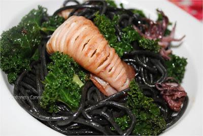 recetas con kale y calamares