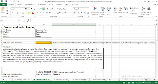 task planning template excel