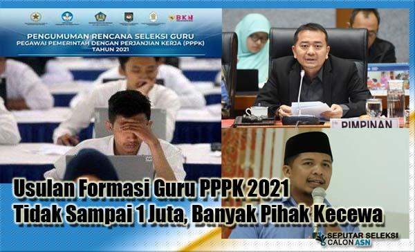 Usulan Formasi Guru PPPK 2021 Tidak Sampai 1 Juta, Banyak Pihak Kecewa