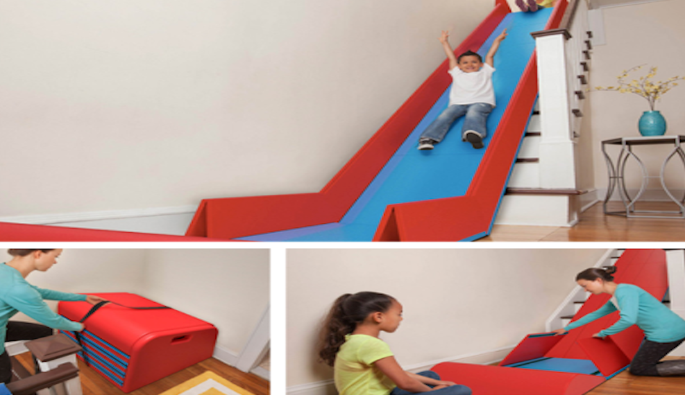 Cheerful Kids Playroom With Stair Design Decor Units