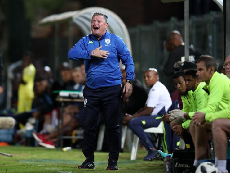 Gavin Hunt trying to rally his troops against Maritzburg United