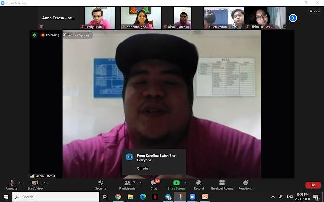 Jason Alexander Degullacion - Pengerusi Penganjuran Virtual Reunion YPL 2020