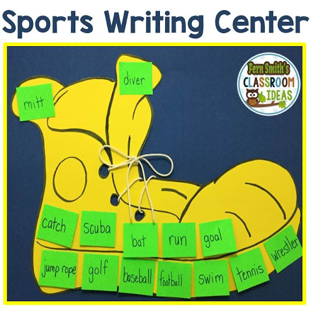 Click here to download the free Sports list of writing center vocabulary words!