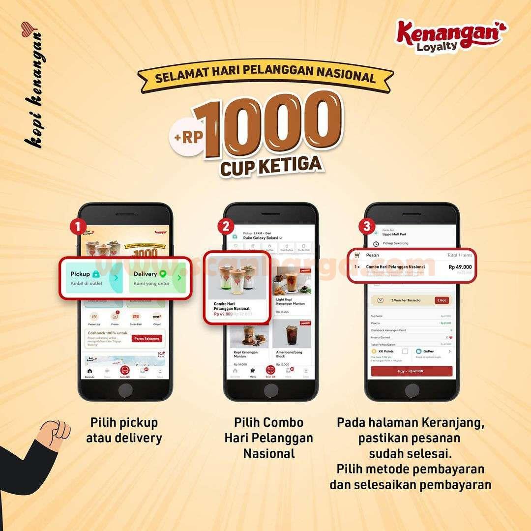 KOPI KENANGAN Promo Beli Cup Ketiga cuma Tambah +Rp. 1.000 3
