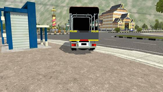 download mod bussid truck canter polisi